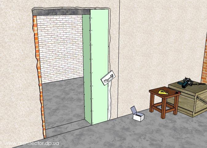 подробно каждом как уменьшить дверной проем гипсовым клеем пот выводится